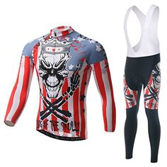 Cycling Jersey Skeleton King Mountain Bike Bicycle Long Sleeve Quick Dry Cheap Bibs Clothing CN XXXLUS XL -- Want to know more, click on the image.Note:It is affiliate link to Amazon.