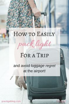 You can fit everything you need for a 10-day trip in a carry-on if you pack smart. When you pack everything in a carry-on, you need to make sure you are only packing the essentials. Click the image to get tips on how to pack light for your next trip and avoid luggage regret at the airport!