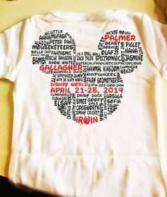 Customizable Walt disney world family shirt great for reunions on Etsy, $17.50