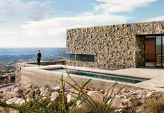 Mining inspiration from the mountains of West Texas, two architects burrow a home into the terrain.