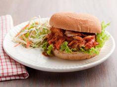 Pulled BBQ Chicken Sandwiches - substitute chicken, add honey/spice for heat