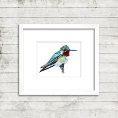 Six new watercolors from The Hummingbird Collection! Bring Nature Inside!  Browse our new shop!