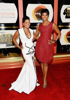 Red Carpet Beauties:Actresses Malinda Williams and Vanessa A. Williams at the Soul Train Awards.