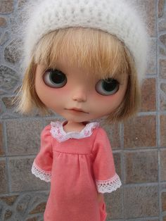 Blythe~Love her expression and her fuzzy hat