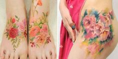 Korean Tattoo Artist Silo Creates Flower Tattoos That Look Like Watercolor Paintings On Your Skin. Standard tattoos are outlined with black ink and then filled in from there, creating the classic appearance true to most tattoo artists around the world. Tattooist_silo employs an entirely different method when he tattoos clients. Thanks to his mad skills, Silo's skin art resembles watercolor paintings.