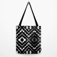 Buy INKatha Tote Bag by Vikki Salmela. Worldwide shipping available at Society6.com. #black #white #ethnic #tribal #geometric #art on tote #shopping #bags. Great for #books #school #office #travel