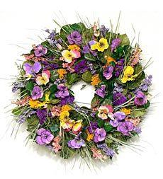 pansy-wreath