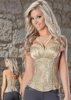 Corsé corses corset corsets estilo renacimiento marfil lenceria elegante