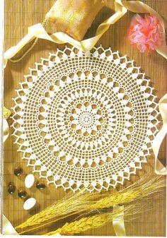 ru / Фото - 1000 Mailles Nomero special hors-serie bouquets et miniature - WhiteAngel Diy Crochet Rug, Free Crochet Doily Patterns, Crochet Stitches Free, Crochet Doily Diagram, Crochet Dollies, Crochet Ripple, Crochet Circles, Crochet Mandala, Crochet Squares