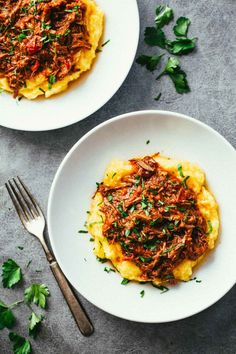 Crockpot Braised Beef Ragu with Polenta