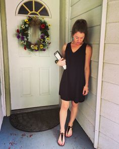 Black Dress-Casual Church in the Country