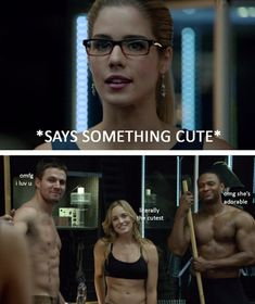 Felicity, Oliver, Sara and Diggle