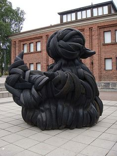 [ This sculpture is made from car tires by Villu Jaanisoon; 'Rubber Duck' in Tampere, Finland. ] http://integratire.com/ https://www.facebook.com/integratireandautocentres https://twitter.com/integratire https://www.youtube.com/channel/UCITPbyTpbyNCDeEmFbYFU6Q