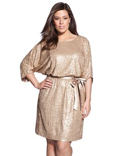 plus gold dress holiday