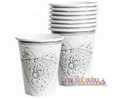 Wedding and Bridal 'With This Ring' 9oz Paper Cups (8ct)