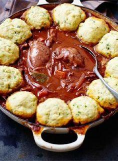 Low FODMAP Recipe and Gluten Free Recipe - Chicken casserole with herb dumplings www.ibssano.com/...