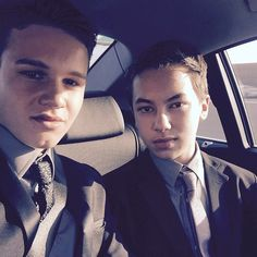 Looking great in suits. | The Fosters