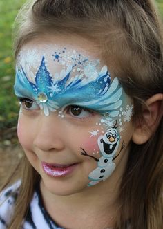 Jody Rife || frozen princess Frozen Princess Crown Face paint Blue white Olaf Snowflake