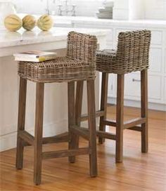 Fresh Seagrass Bar Stools with Backs