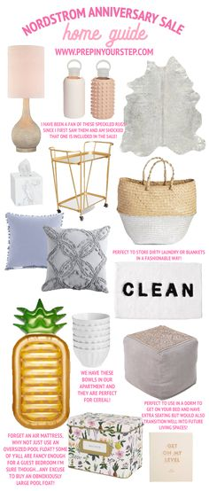 home decor finds from the nordstrom anniversary sale, check out www.prepinyourstep.com for all the details!