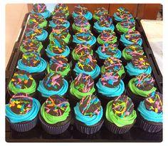 Neón cupcakes