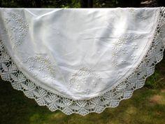 Stunning Centerpiece Wedding Table Cloth Hand by chloeswirl, $49.99