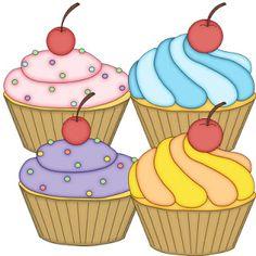 Dibujos de cupcakes para imprimir