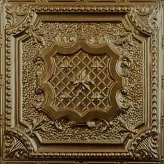Metallic Gold Metal Ceiling Tile # AT 29  #Tin # Ceiling # Drop# Ceiling# Metal #Ceiling #Tin #Tiles #Metallic Gold Metal, Decor, Metal Ceiling, Metal Tins, Gold Ceiling, Tiles, Metal Ceiling Tiles, Ceiling, Metal