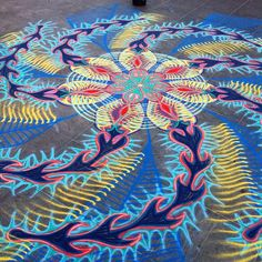 Sand Painting, Sand Art, Sacred Geometry, Cool Art, Street Art, It Is Finished, Artwork, Healing, Nyc