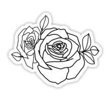 Halsey tattoo - Roses Sticker