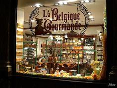 A serious chocolate shop in Belgium