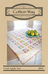 Fresh Apple Tart Table Topper pattern, #899, Cotton Way pattern by Bonnie Olaveson by QuiltiliciousFabric on Etsy