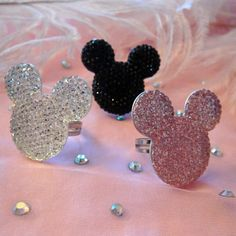 Minnie Ring- Pink, Silver or Black