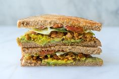 Coconut Bacon BLT - A coconut bacon BLT sandwich made with a wildcard ingredient. A perfect summer sandwich for all your vegan, vegetarian, and plant-based eaters. - from 101Cookbooks.com