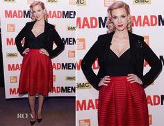 January Jones In Maje – 'Mad Men' New York Screening