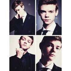 Photoshoots are the best ever!!! | Thomas Sangster ♥ | Pinterest ❤ liked on Polyvore