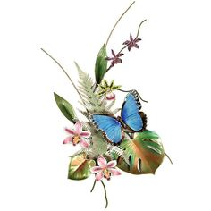 Blue Morpho Butterfly on Orchid, Wall Sculpture (16,200 PHP) ❤ liked on Polyvore featuring home, home decor, flowers, butterflies, backgrounds, fillers, decor, embellishment, effect en detail