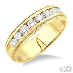1 Ctw Men's Diamond Band in 14K Yellow Gold www.christensenjewelers.com