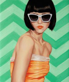 Rose Miller of Wolfgang and Rose Art |Lady Kat Loves Chevron art