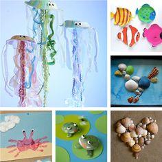 My home ...: Καλοκαιρινές κατασκευές για παιδιά {summer crafts}