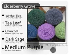 Red Heart Super Saver Color Mix: Elderberry Grove