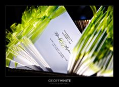 Green Ribbon Ceremony Programs Style File: Greens | San Francisco Wedding Photographer Blog - Geoff White Photography - Serving the Bay Area