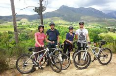 Guided Bike Tour of Stellenbosch Experience a Guided Bicycle tour through the beautiful historic town of Stellenbosch, in the heart of the Western Cape Wine lands. The tour combines the beautiful scenery and sites of Historic Stellenbosch with excellent wine pairings and some healthy outdoor exercise.Mountain bikes and helmets will be provided. Includes a historic tour of Stellenbosch, 2 wine tastings  on award winning wine estates, cellar tour and a cycle through the fa...