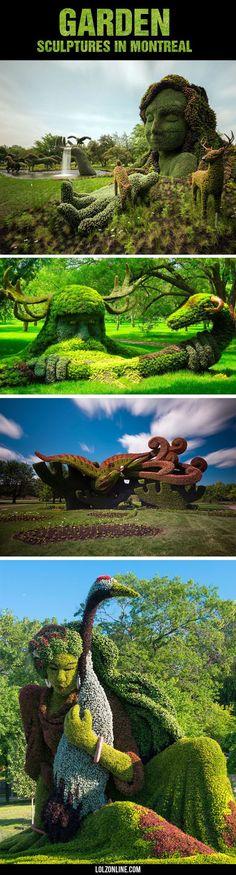 Magnificent Garden Sculptures In Montreal