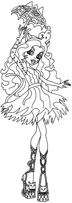 Free Printable Monster High Coloring Page For Toralei Stripe Freak Du Chic Click Here To Print