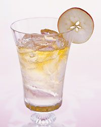 Pomme Petillant Recipe-  This deceptively simple drink highlights the pungent flavor and aroma of Calvados, an oak-aged apple brandy from Normandy, France - on Food & Wine