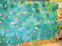 ocean mural... first day project? I think my theme next year is oceans of fun.
