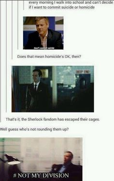 The Sherlock fandom has escaped their cages
