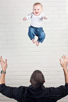 A fun photo of my son during a 'Flying' photo shoot.  He loved flying!  Baby Photography