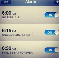 Run alarm